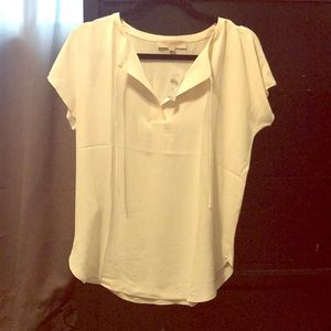 LOFT NWT mixed media short sleeved top